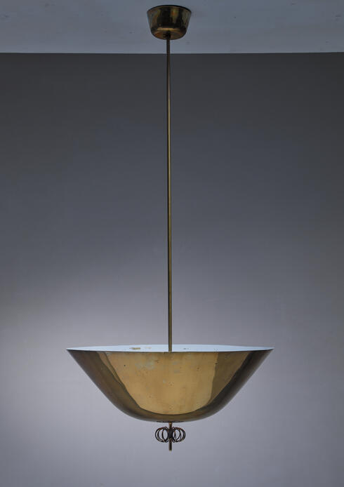 Bloomberry - Paavo Tynell rare brass pendant for Taito, Finland, 1940s