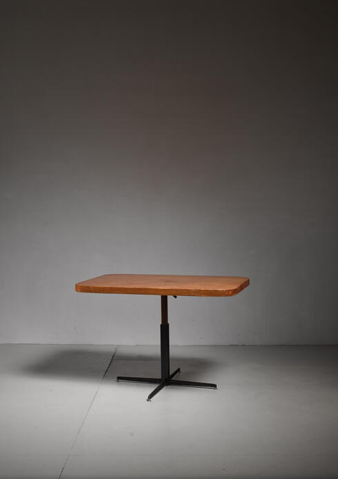 Bloomberry - Charlotte Perriand height-adjustable dining table, France, 1960s