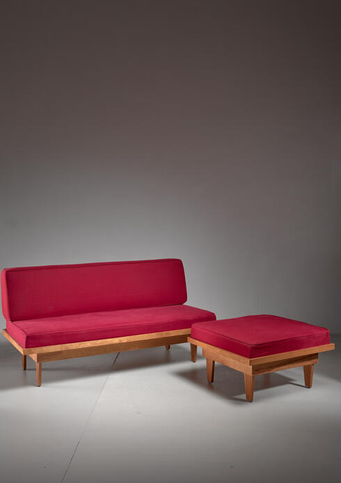Bloomberry - Plywood Studio sofa and Ottoman, USA, 1940s