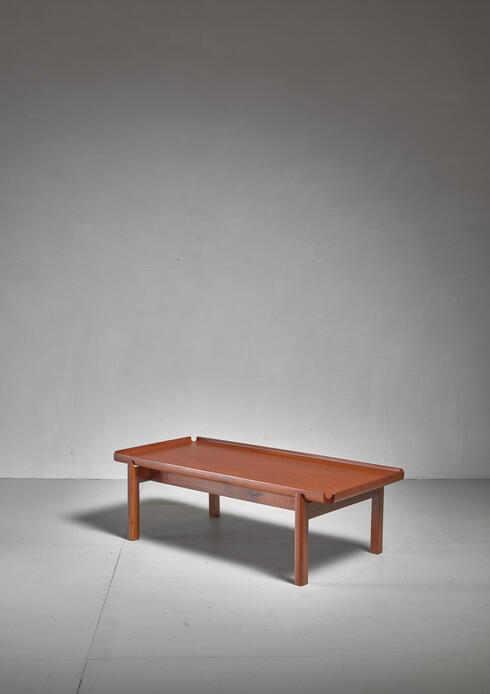 Bloomberry - John Kapel Wooden Coffee Table with Curved Edges