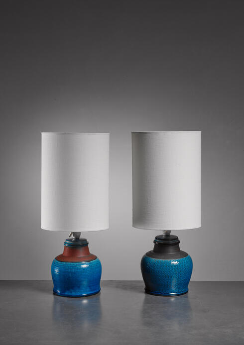 Bloomberry - Pair of Kahler ceramic table lamps, Denmark, 1960s