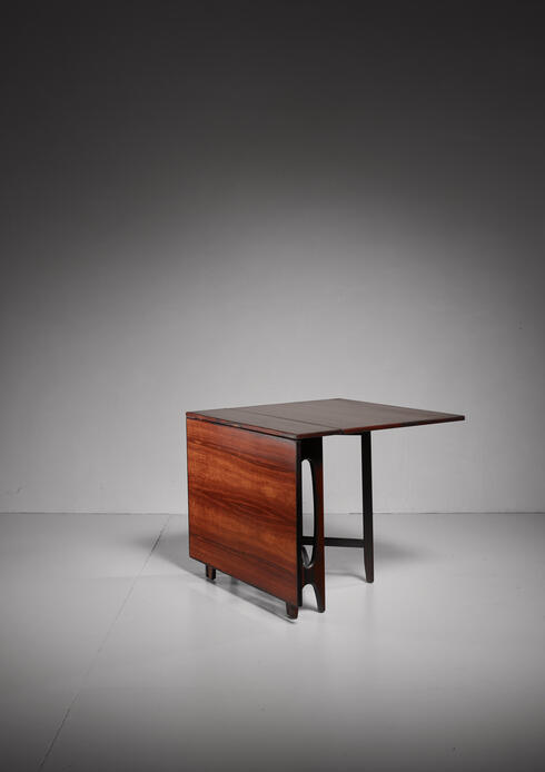 Bloomberry - Rosewood Drop-Leaf Gateleg Table by Bendt Winge, 1950s