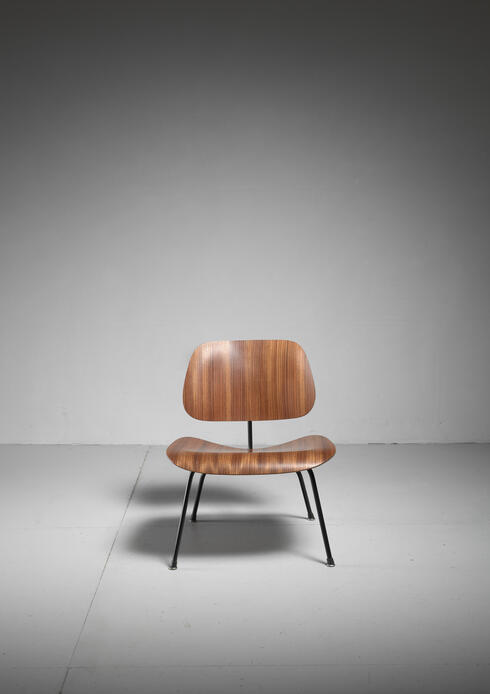 Bloomberry -  Rare zebrano edition of the Eames LCM chair for Herman Miller, USA