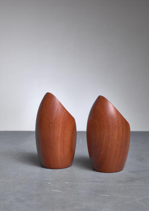 Bloomberry - Pair Rude Osolnik  Candle Holders, USA, 1960s