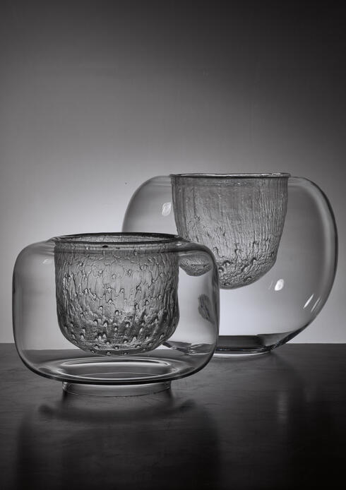 Bloomberry - Pair of Timo Sarpaneva Glass Bowls for Iittala, Finland, 1960s