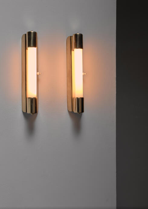 Bloomberry - Mauri Almari pair of wall lamps for Idman, Finland, 1950s