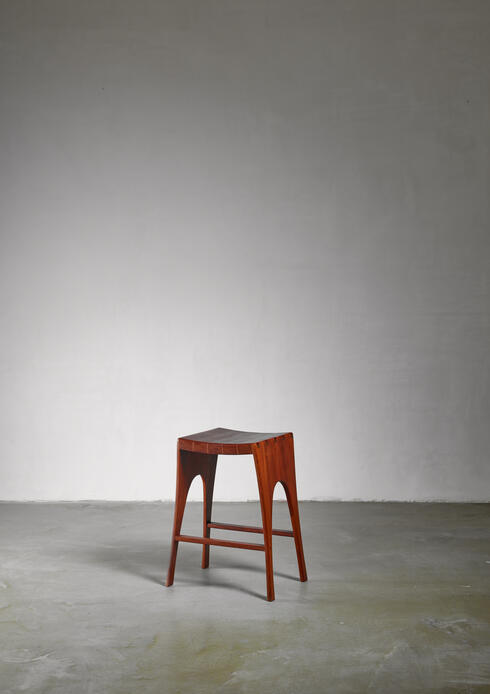 Bloomberry - John Nyquist studio craft stool, USA, 1960s