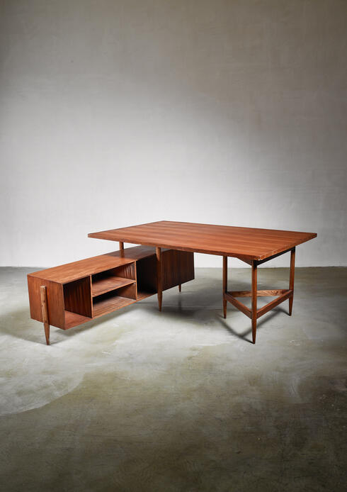 Bloomberry - Pierre Jeanneret Chandigarh desk, 1950s