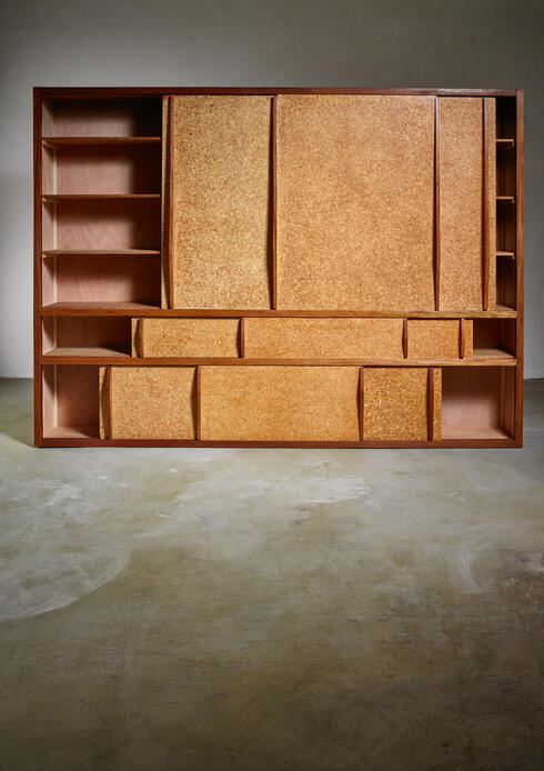 Bloomberry - Rare and complete Charlotte Perriand & Jean Prouve cupboard from Le Mans, 1950s