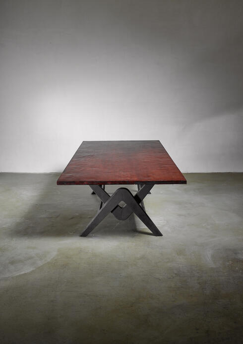 Bloomberry - Pierre Jeanneret Chandigarh Conference Table, circa 1963