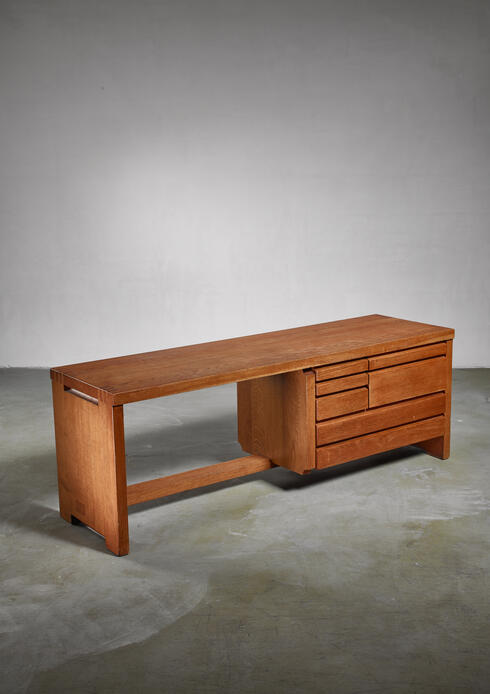 Bloomberry - Rare Pierre Chapo B19 commode, France, 1970s