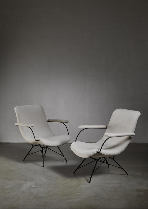 Bloomberry - Pair of Carlo Hauner and Martin Eisler lounge chairs, Brazil