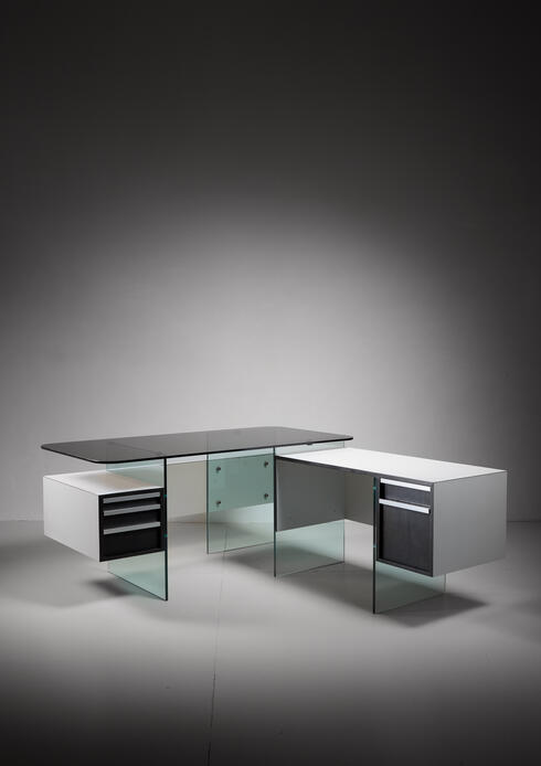 Bloomberry - Xavier Marbeau Very Rare Modular Positioning Desk, France, 1960s
