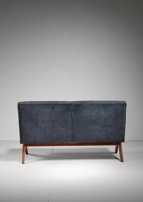 Bloomberry - Pierre Jeanneret Chandigarh V-leg bench,India, 1950s