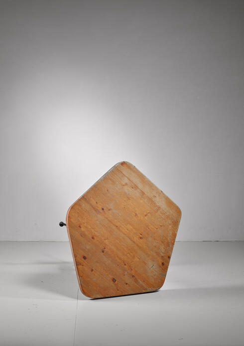 Bloomberry - Charlotte Perriand Les Arcs pentagonal table, France, 1960s