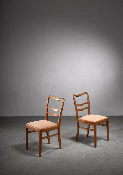 Bloomberry - Pair 1930s side chairs