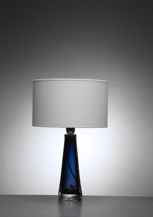 Bloomberry - Orrefors glass table lamp
