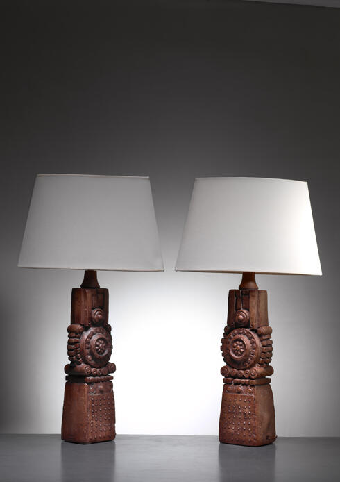 Bloomberry - Bernard Rooke pair of ceramic table lamps