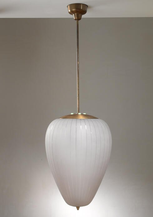 Bloomberry - Very large ASEA bullet shaped pendant lamp