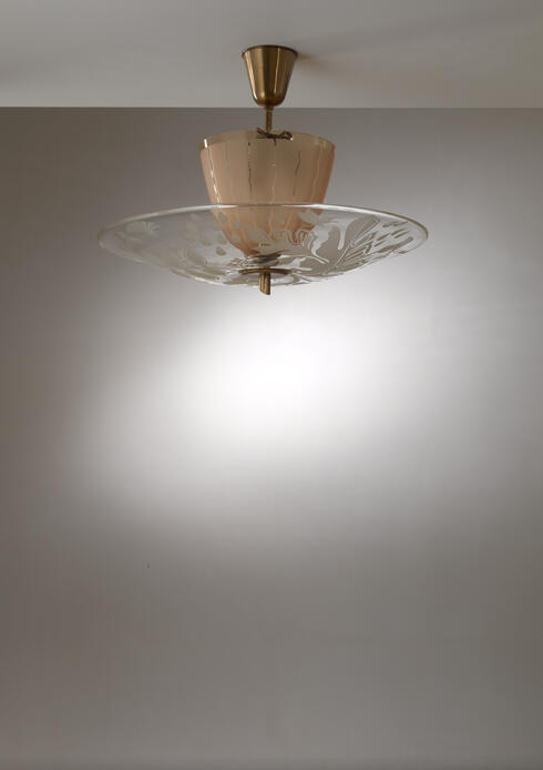 Bloomberry - Glossner decorated glass pendant lamp