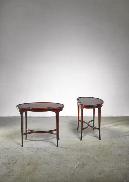 Bloomberry - Pair of free form Nordiska Kompaniet side tables, Sweden, 1945