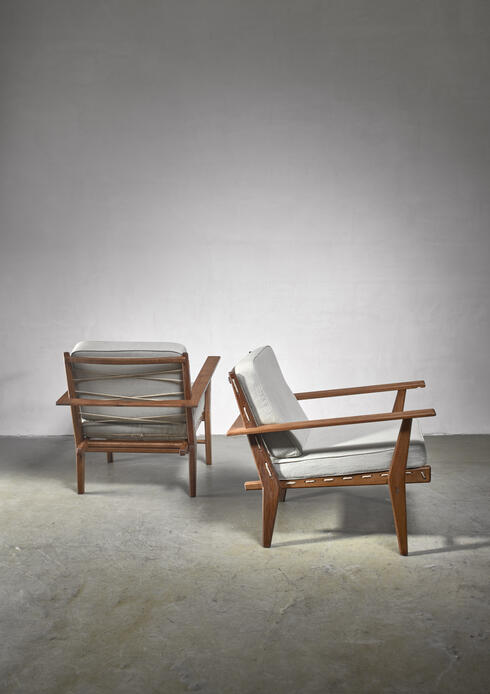 Bloomberry - Pair of rope deck chairs
