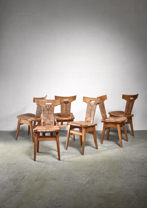 Bloomberry - Set of 6 W. Kuyper dining chairs, early 19th Century