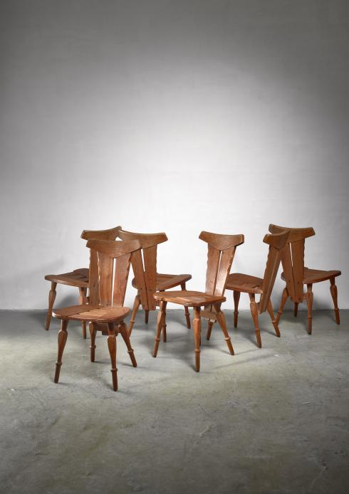 Bloomberry - W. Kuyper set of 6 Arts & Crafts chairs