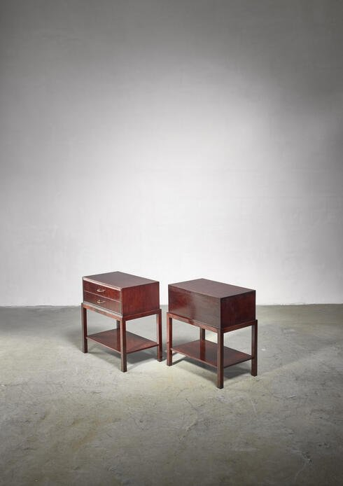 Bloomberry - Ernst Kuhn pair of mahogany nightstands