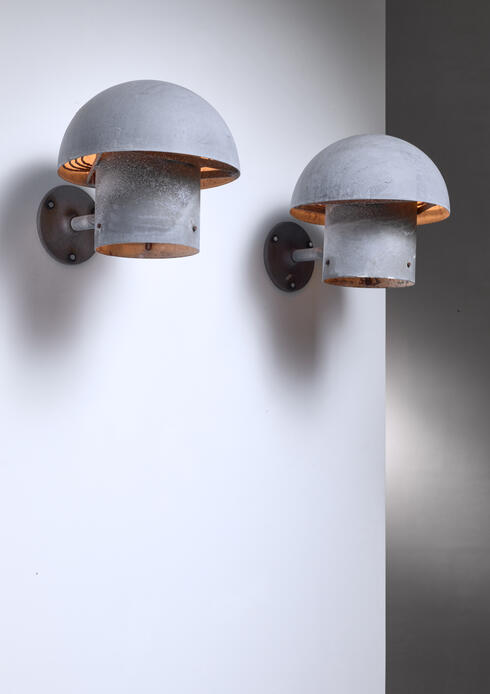 Bloomberry - Bjarne Bech pair of metal wall lamps for Louis Poulsen