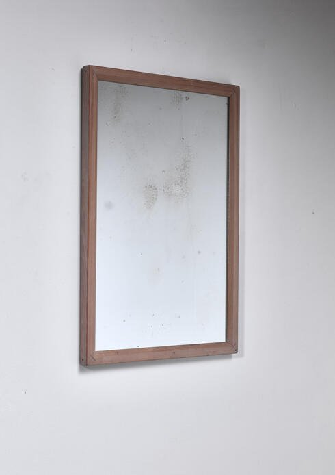 Bloomberry - Peder Moos Rare Signed rectangular pine mirror, 1945