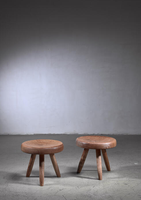 Bloomberry -  Charlotte Perriand low ash stool