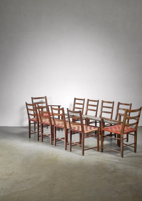 Bloomberry - Set of 10 dining chairs by Gemla, Diö, Sweden