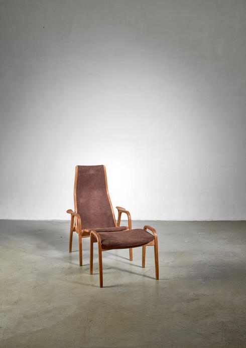 Bloomberry - Yngve Ekstrom Lamino Chair with ottoman, Sweden