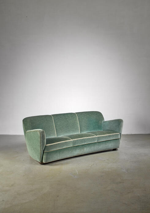 Bloomberry - Georg Kofoed three-seater sofa, Denmark, 1940s