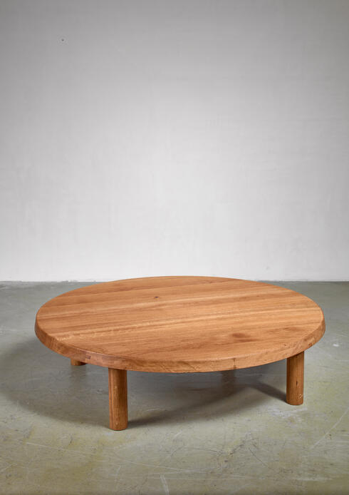 Bloomberry - Pierre Chapo low and large T02 coffee table, France, 1960s