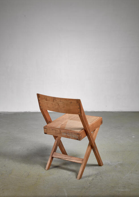 Bloomberry - Pierre Jeanneret Numbered Chandigarh High Court library chair