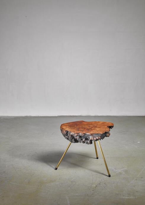 Bloomberry - Carl Aubock tree trunk coffee table, Austria