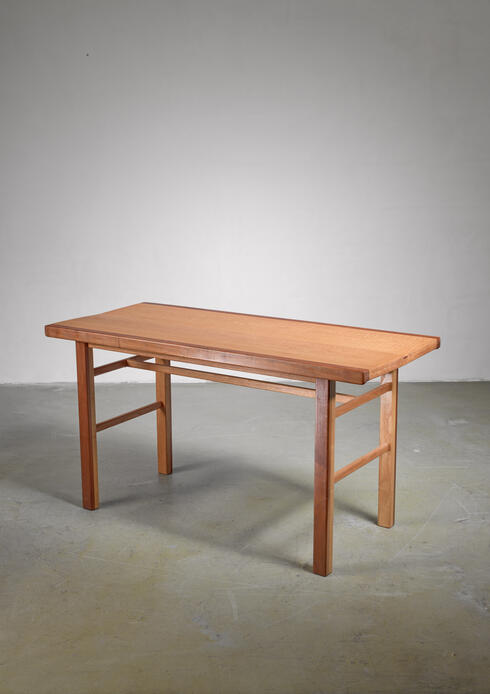 Bloomberry - Gene Caples Walnut and Oak console Table, USA, 1960s