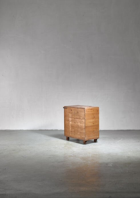 Bloomberry - Pine storage or waste cart, Sweden, 1930s