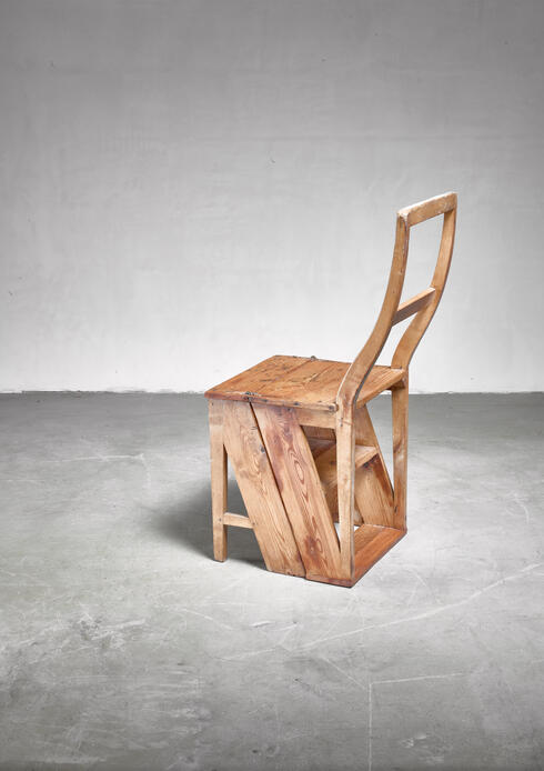 Bloomberry - Swedish 19th century step chair in pine