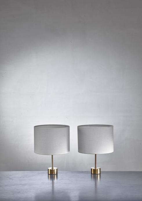 Bloomberry - Pair of ASEA brass table lamps, Sweden, 1960s
