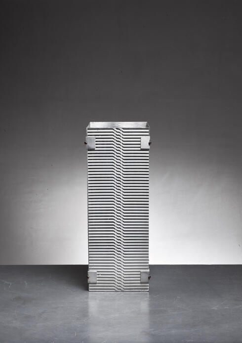 Bloomberry - Lorenzo Burchiellaro Metal Umbrella Stand or Paper Bin, Italy, 1970s
