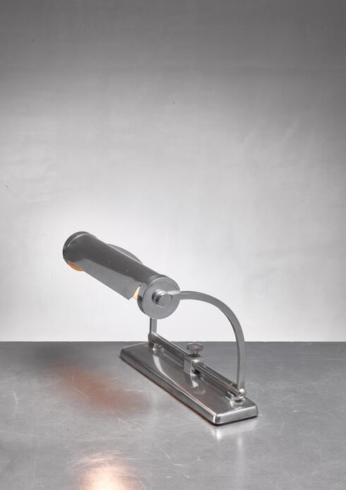 Bloomberry - Adjustable chrome piano lamp, France, 1930s