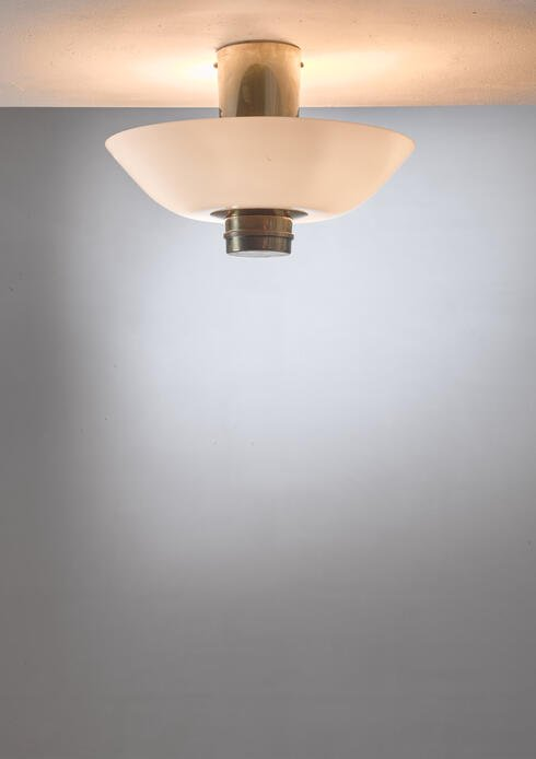 Bloomberry - Paavo Tynell flush mount for Taito, Finland, 1940s