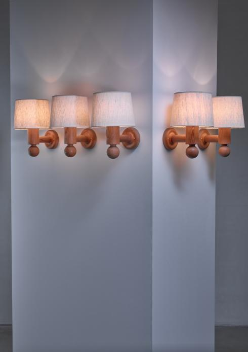 Bloomberry - Set of 5 Uno & Osten Kristiansson wall lamps for Luxus