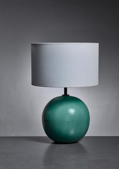 Bloomberry - Green ceramic table lamp by Fayence Manufaktur Kandern, Germany