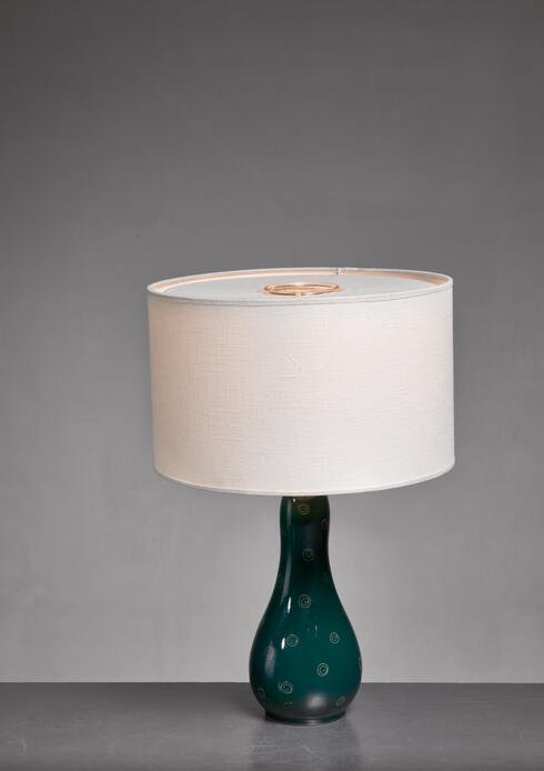 Bloomberry - Toini Muona ceramic table lamp for Arabia, Finland, 1960s