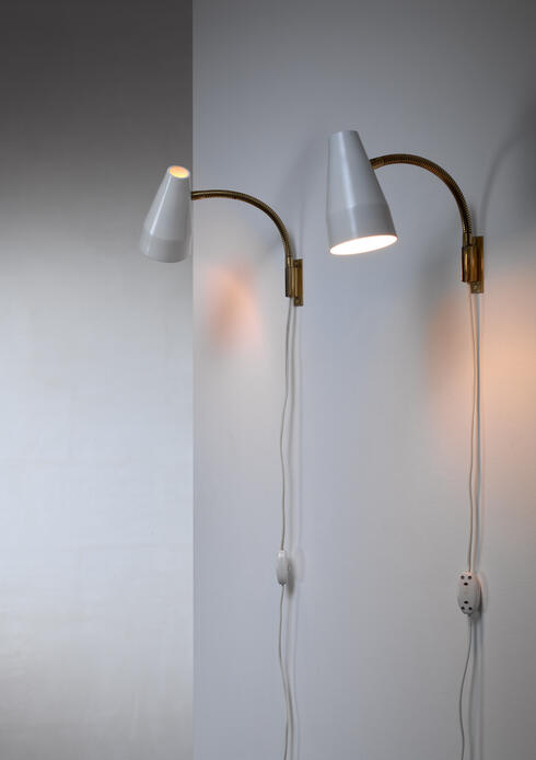 Bloomberry - Lisa Johansson-Pape pair of wall lamps for Orno