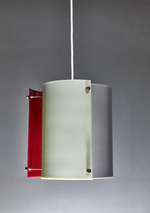 Bloomberry - Yki Nummi plexiglass pendant lamp for Orno, Finland, 1960s